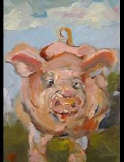 Art: Dirty Little Pig by Artist Delilah Smith