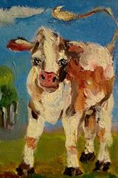 Art: Calf-sold by Artist Delilah Smith