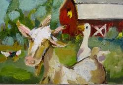 Art: Down on the Farm-sold by Artist Delilah Smith