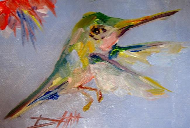 Art: Hummingbird No2 by Artist Delilah Smith