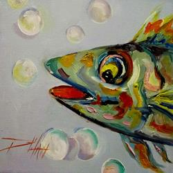 Art: Wild Fish No. 4 by Artist Delilah Smith