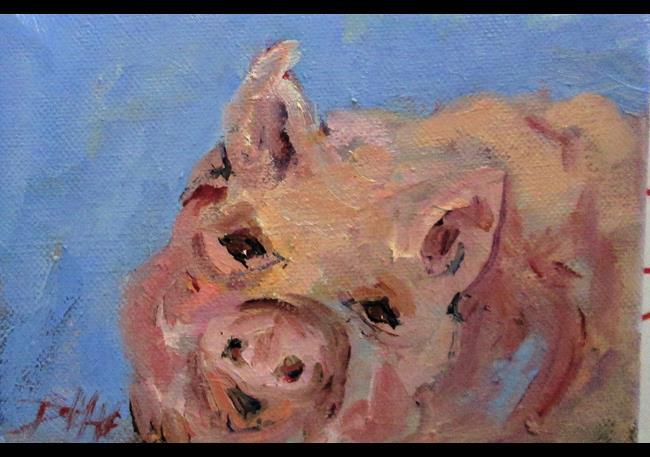 Art: Little Pig by Artist Delilah Smith