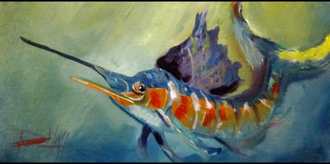 Art: Sailfish by Artist Delilah Smith