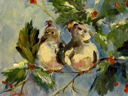 Art: Chubby Sparrows by Artist Delilah Smith