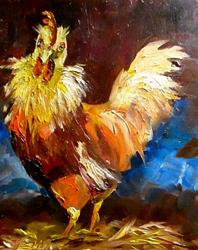 Art: Rowdy Rooster by Artist Delilah Smith