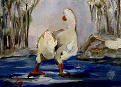 Art: Winter Pond by Artist Delilah Smith