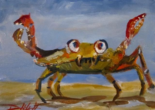 Art: Google Eyed Crab by Artist Delilah Smith