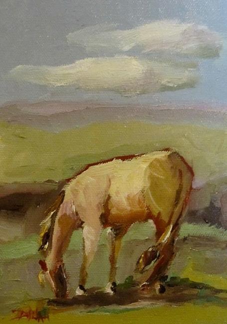 Art: Grazing Horse by Artist Delilah Smith
