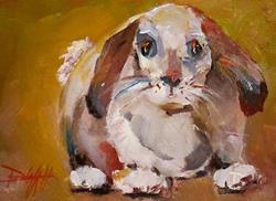Art: Floppy Eared Bunny by Artist Delilah Smith