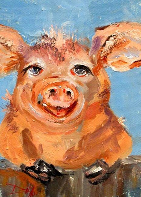 Art: Smiling Pig by Artist Delilah Smith