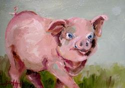 Art: Little Pig by Artist Delilah Smith