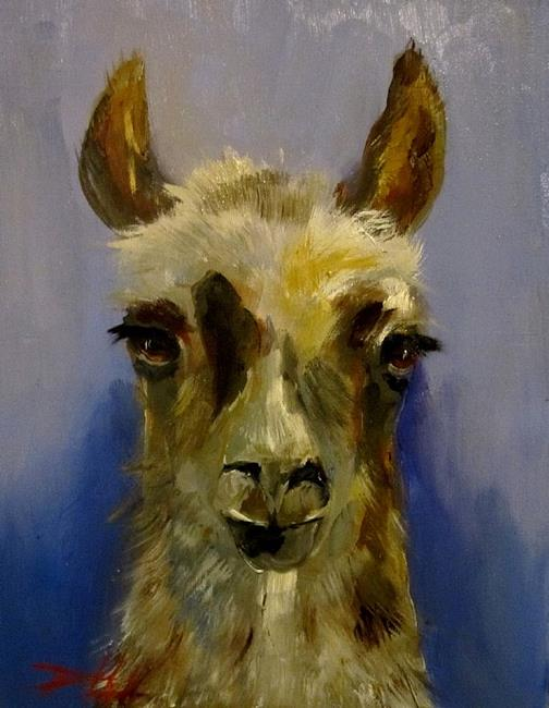 Art: Llama by Artist Delilah Smith