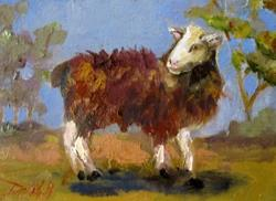 Art: Woolly Coat Sheep by Artist Delilah Smith
