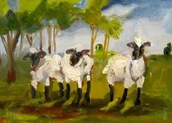 Art: Lambs by Artist Delilah Smith