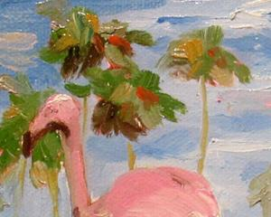 Detail Image for art Flamingo Pink