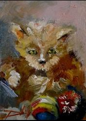 Art: Little Kitten and Ball by Artist Delilah Smith