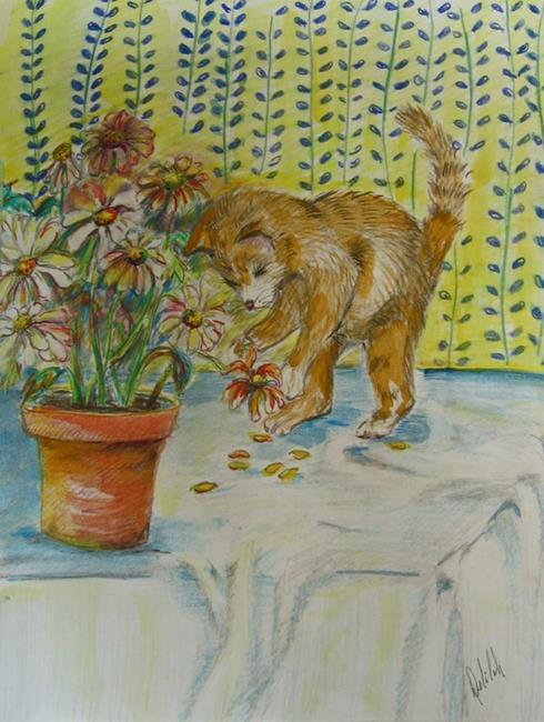 Art: Daisy Attack by Artist Delilah Smith
