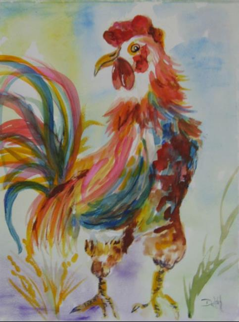Art: Shake Your Tail Feathers,sold by Artist Delilah Smith