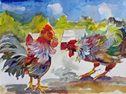 Art: Pecking Order by Artist Delilah Smith