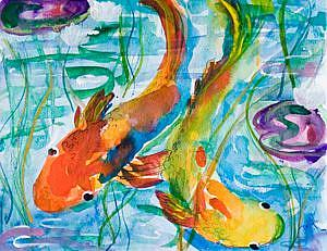 Art: Fish Pond by Artist Delilah Smith