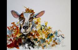 Art: Sleepy Sheep by Artist Delilah Smith