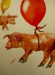 Art: When Pigs Fly by Artist Delilah Smith