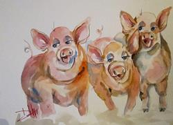 Art: Three Little Pigs-sold by Artist Delilah Smith