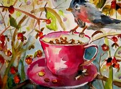 Art: Hungry Little Bird-sold by Artist Delilah Smith