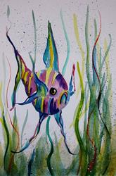 Art: Angle Fish-sold by Artist Delilah Smith