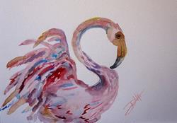 Art: Flamingo by Artist Delilah Smith