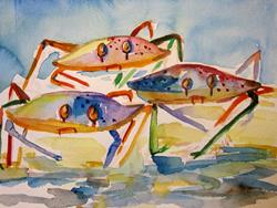 Art: Three Crabs by Artist Delilah Smith