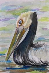 Art: Pelican- SOLD by Artist Delilah Smith