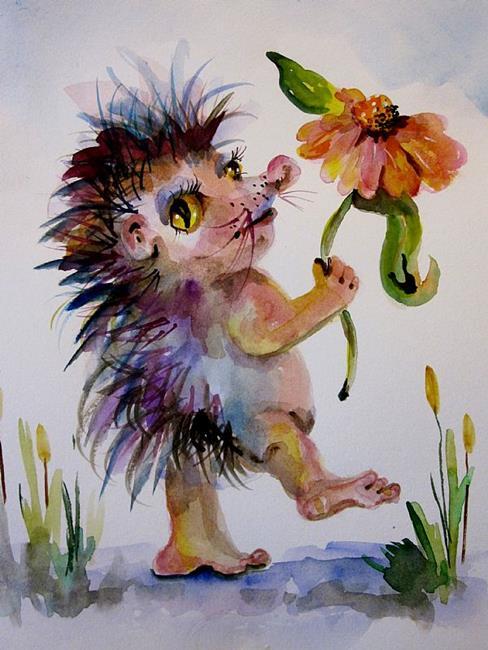 Art: Little Hedge Hog by Artist Delilah Smith