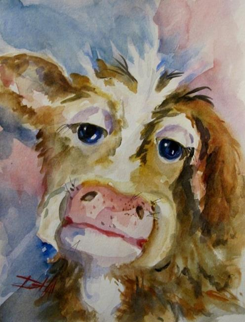 Art: Fuzzy Cow by Artist Delilah Smith