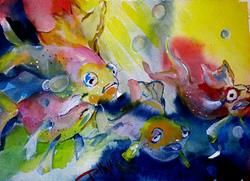 Art: Fish Bowl by Artist Delilah Smith