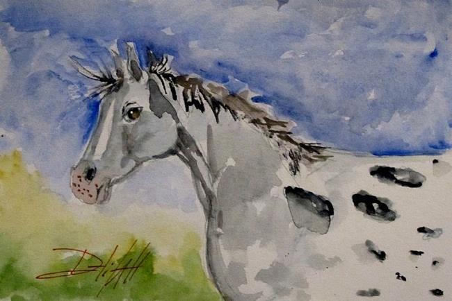 Art: Appaloosa Horse by Artist Delilah Smith