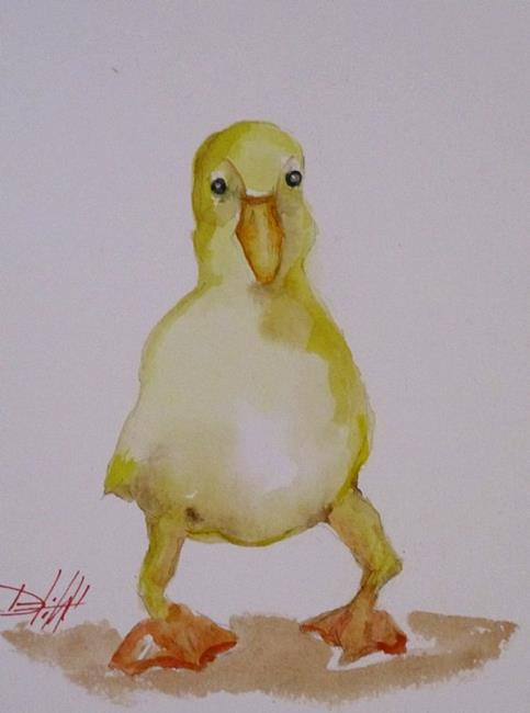 Art: Yellow Duck by Artist Delilah Smith