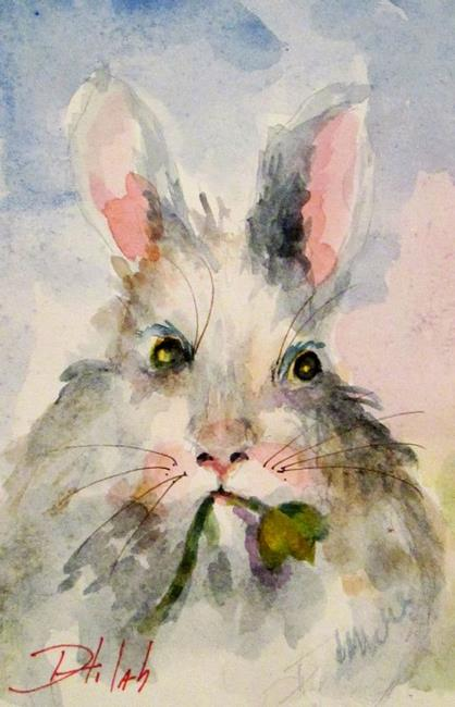 Art: Hungry Bunny by Artist Delilah Smith