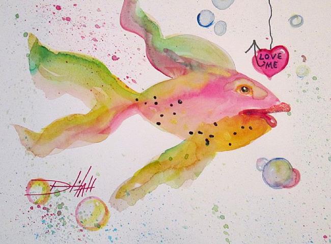 Art: Love Me by Artist Delilah Smith