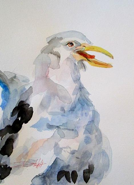 Art: Gull by Artist Delilah Smith