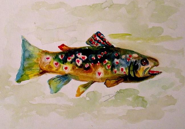 Art: Valentine Trout by Artist Delilah Smith