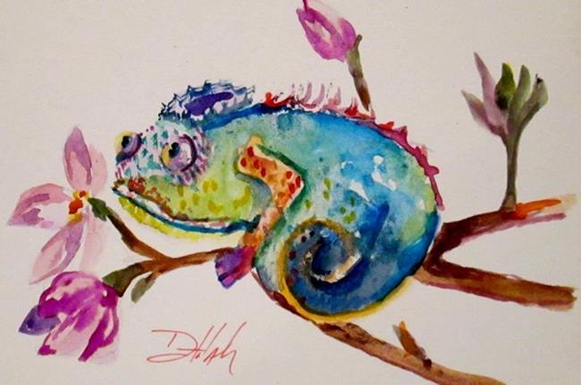 Art: Chameleon by Artist Delilah Smith