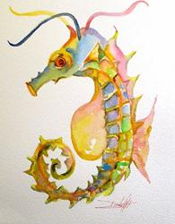 Art: Seahorse No. 4 by Artist Delilah Smith
