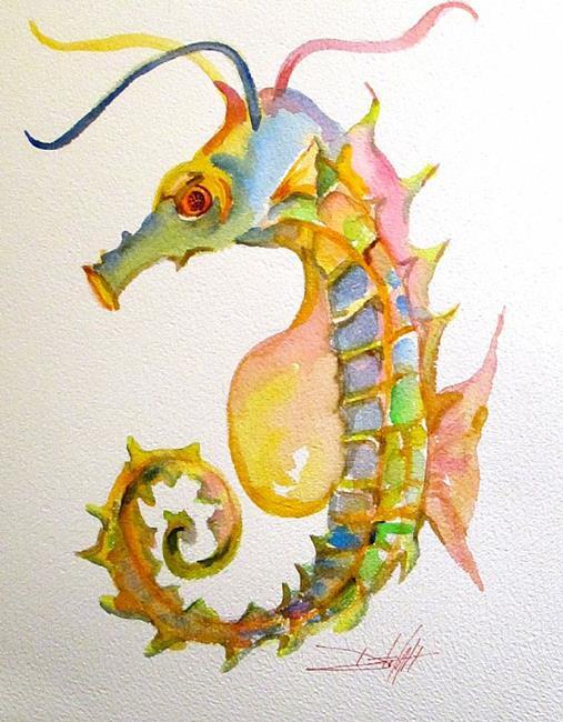 Art: Seahorse No. 4 by Artist Delilah Smith