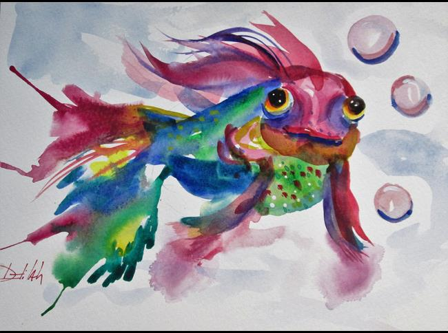 Art: Koi No. 7 by Artist Delilah Smith