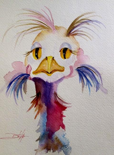 Art: Wild Ostrich by Artist Delilah Smith