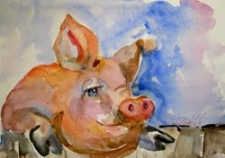 Art: Pig by Artist Delilah Smith