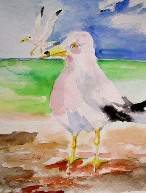 Art: Gulls by Artist Delilah Smith