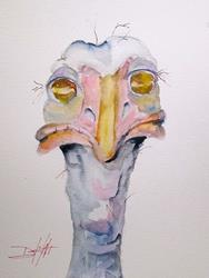 Art: Ostrich No.2 by Artist Delilah Smith