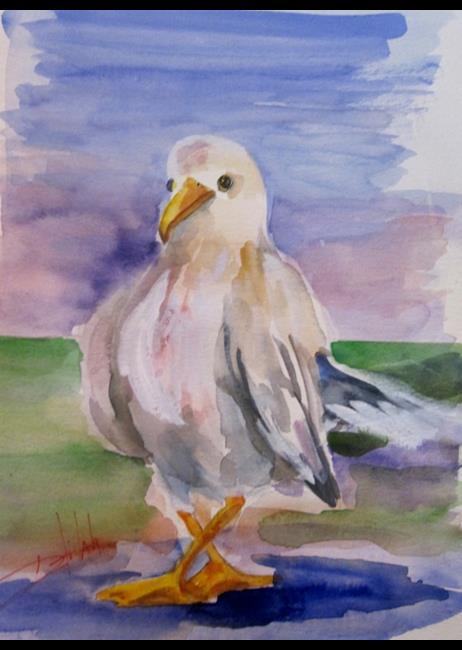 Art: Gull (587x800).jpg by Artist Delilah Smith